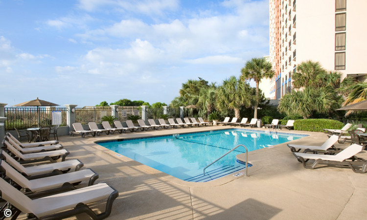 oceanfront pool at carolina dunes resort