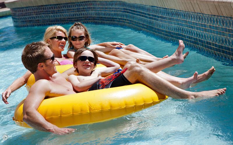 Outdoor Block-Long Pool Deck