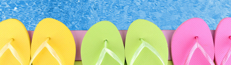 Flip Flops by Swimming Pool